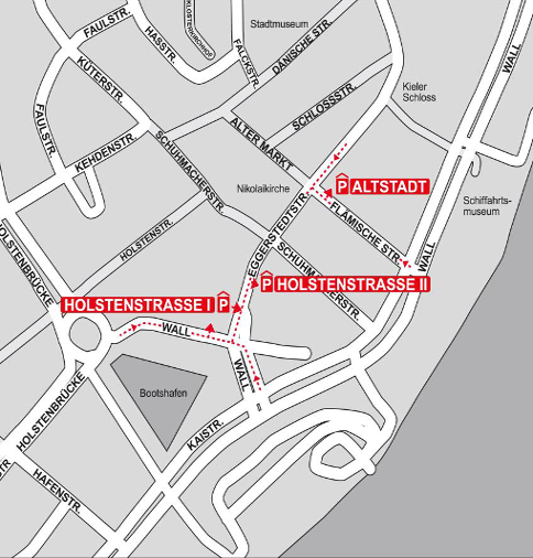 Parkhäuser in Kiel